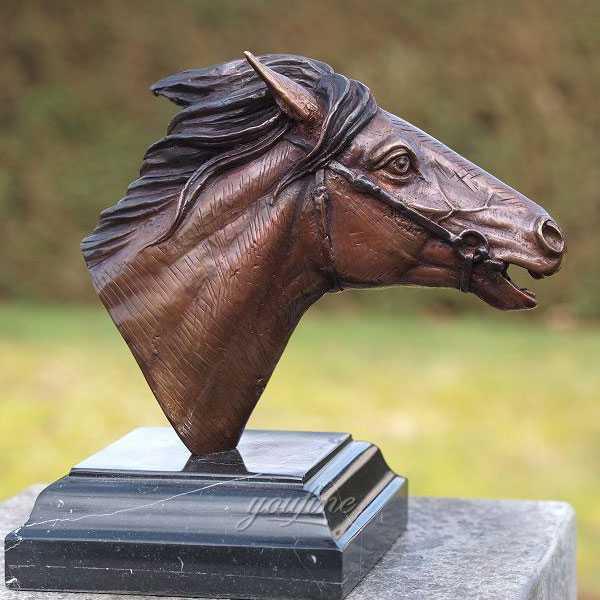 Outdoor antique bronze horse head bust statue life size for garden ornaments BOKK-589