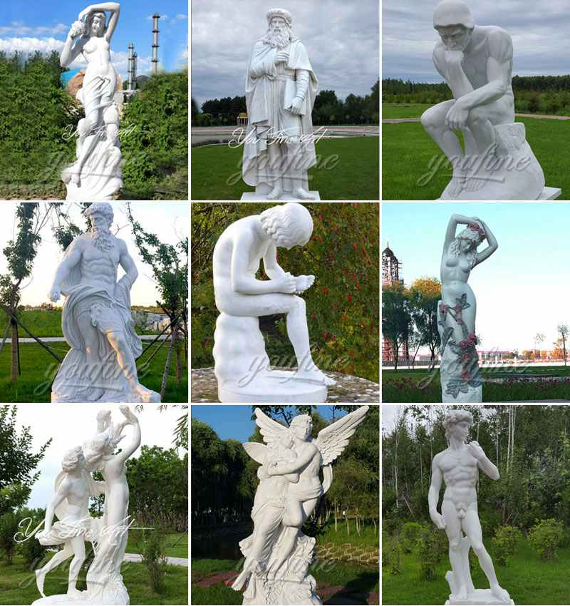 Outdoor life size famous marble figure statues for sale