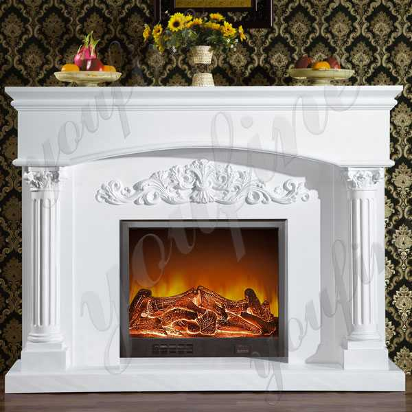 Elegant French Style Marble Fireplace Outdoor Marble