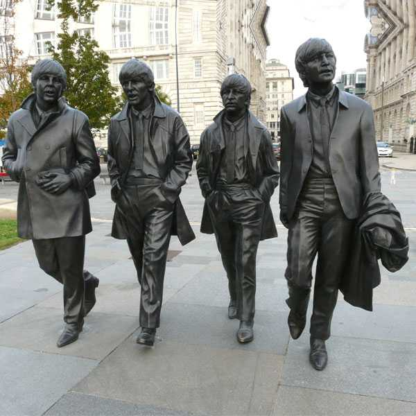 World Famous Singer Band Beatles Statue in Liverpool Life Size Bronze Statue Replica Design for Decor for Sale BOKK-580
