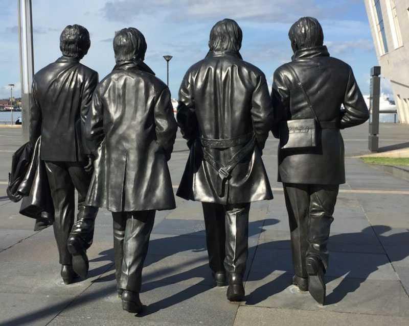 World famous Beatles statue in liverpool life size bronze statue replica design for decor for sale