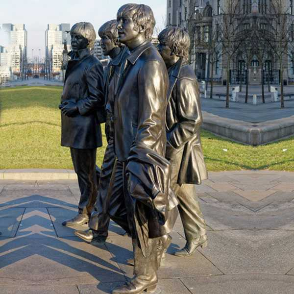 World famous singer team Beatles statue in liverpool for sale