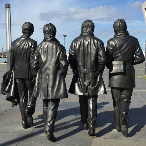 World famous singer team Beatles statue in liverpool life size bronze statue replica design for sale