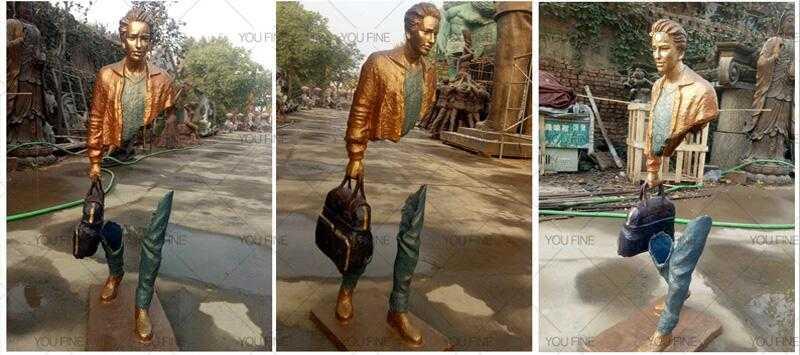 abstract bronze traveler sculpture design for sale