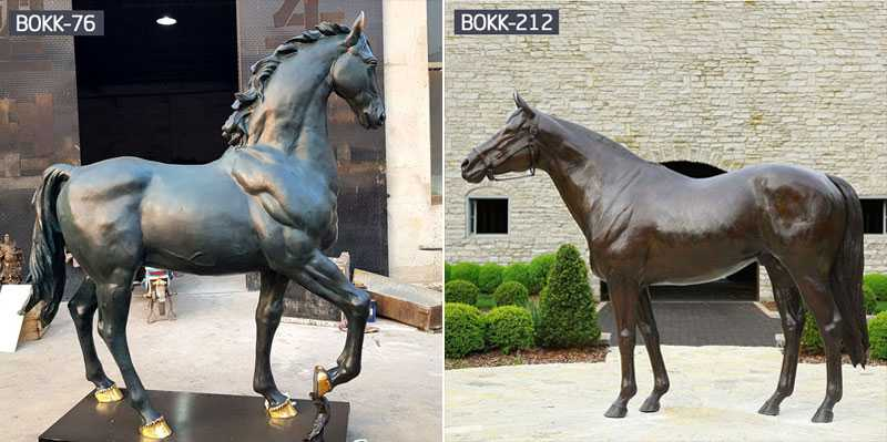 antique bronze life size horse statues for sale