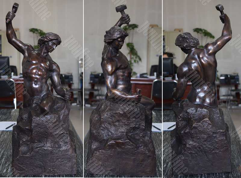 bronze bobbie carlyle self made man replica outdoor bronze figure statue design for sale