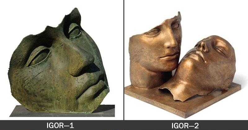 bronze hollow head igor mitoraj replica for home decor for sale