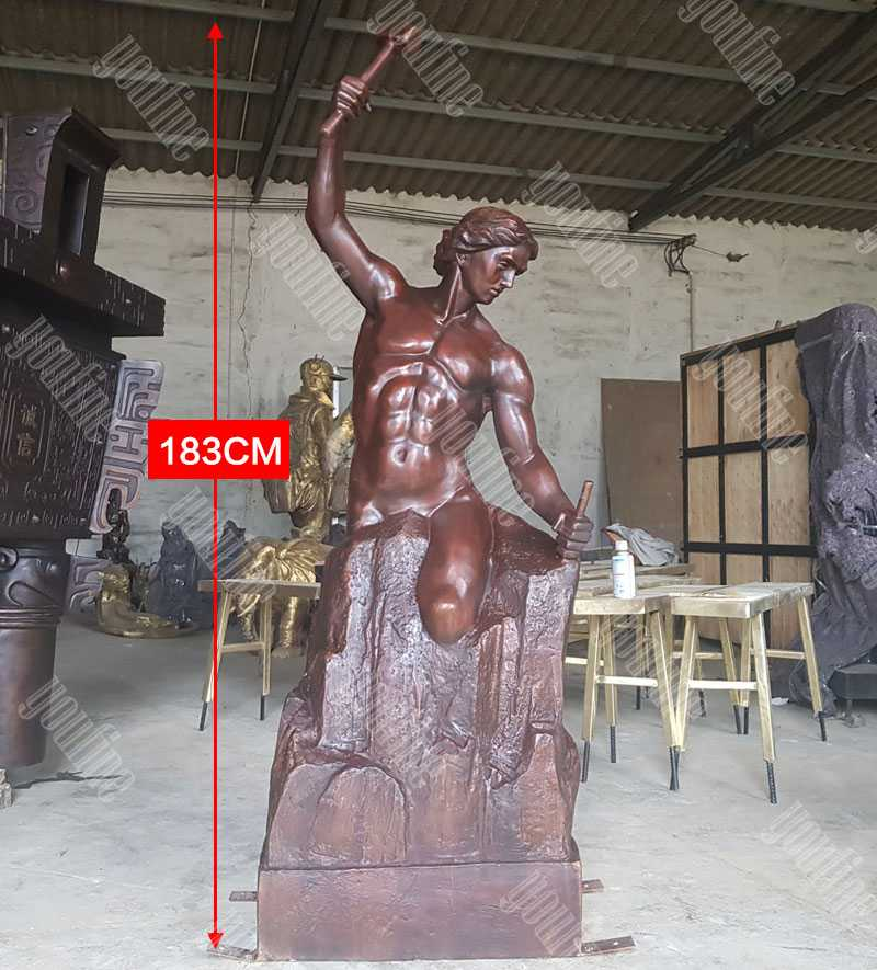 bronze self made man statue replica famous casting figure statue for sale BOKK-592