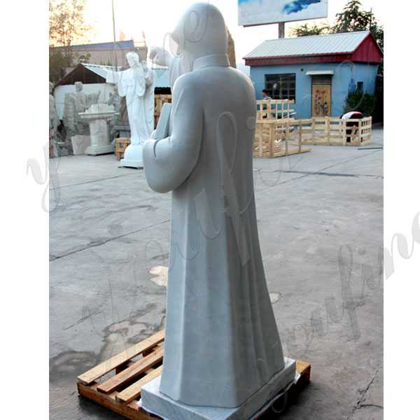 catholic church saint statues for the garden white marble saint charbel with bible designs for sale