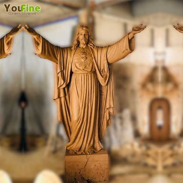 clay model of Jesus sculpture