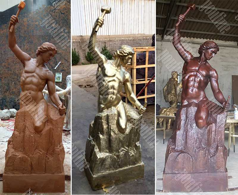 custom bronze self made man statue replica famous casting bronze figure statue for sale
