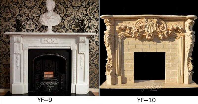custom made marble fireplace surround ideas