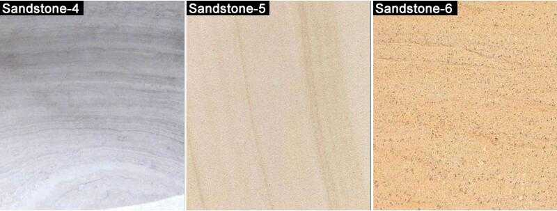 different color of sandstone