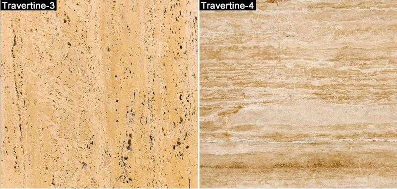 different color of travertine