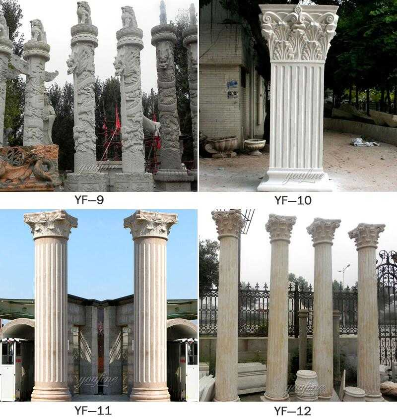 driveway entrance pillars design for sale