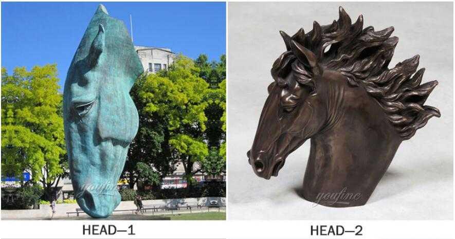 famous bronze horse head sculpture for sale