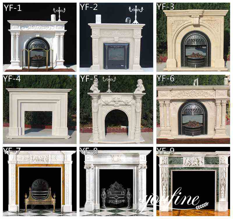 hand carved Marble Fireplace Surround