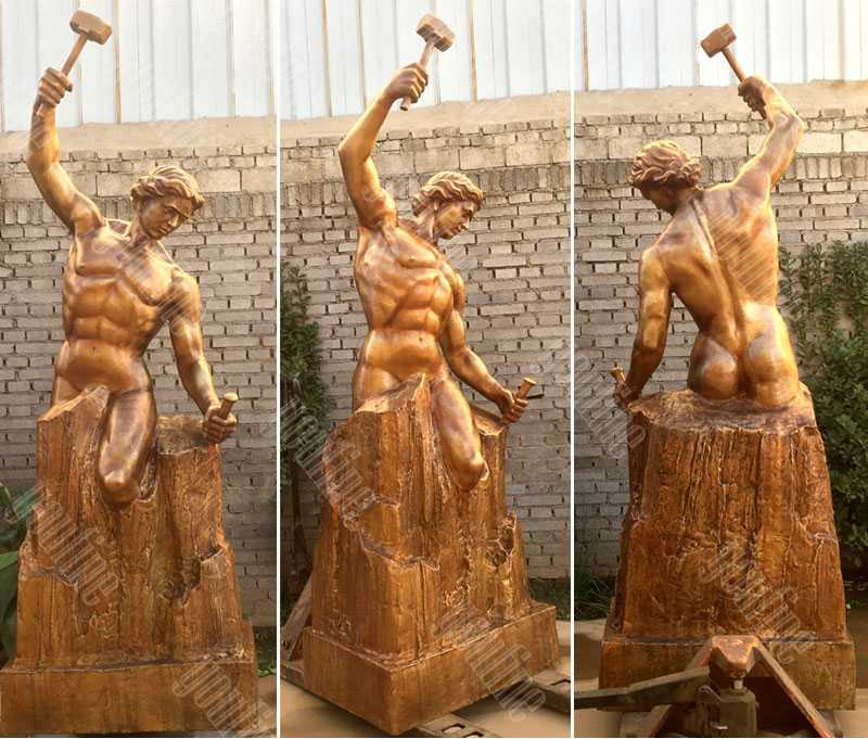 large custom made casting bronze bobbie carlyle self made man replica outdoor figure statue design for sale