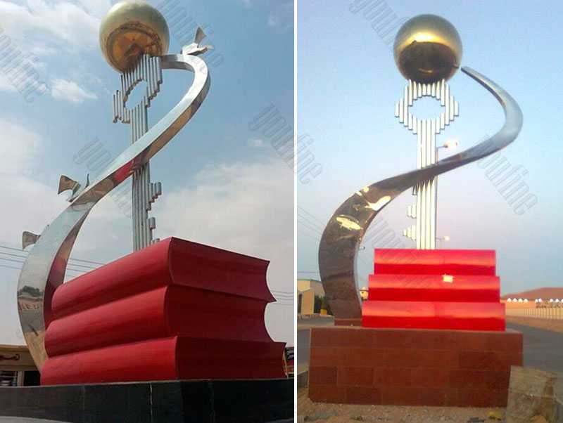 large outdoor sculptures for sale contemporary stainless steel sculpture for sale UAE