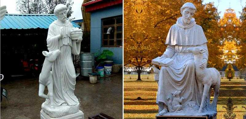 large st francis garden statue for sale