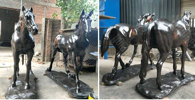 large two standing horse garden ornamental