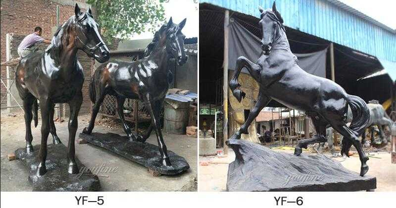 life size antique bronze horse statue for sale