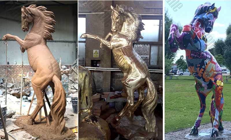 life size bronze horse statue be painted by our customer design custom horse statue for garden lawn ornament decor for sale