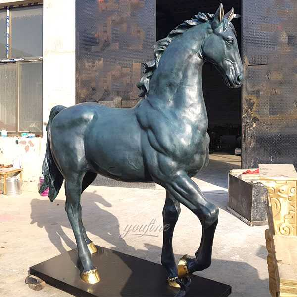 life size bronze horse statue hot cast bronze standing horse art sculpture design for sale