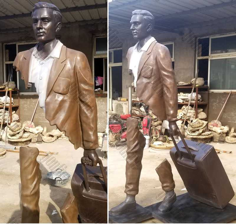life size famous bronze bruno catalano travellers replica design for sale