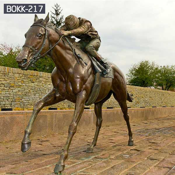 life size horse racing statue for sale BOKK-217
