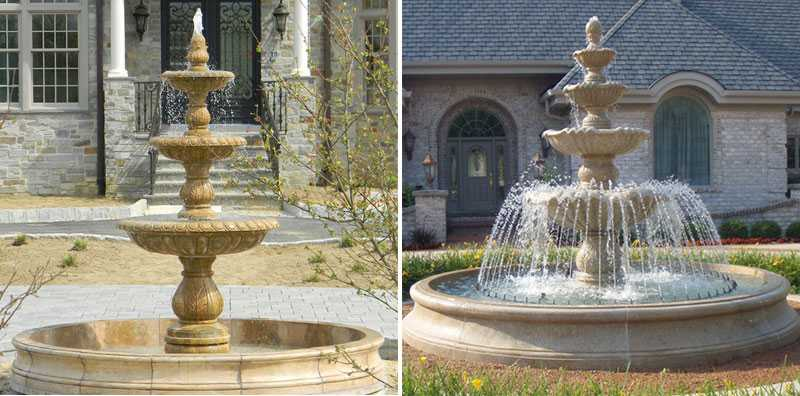 marble patio tiered water fountain for sale