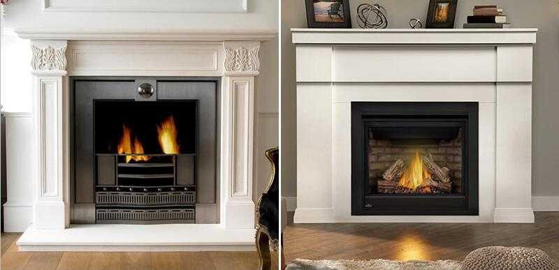modern custom marble fireplace surround ideas