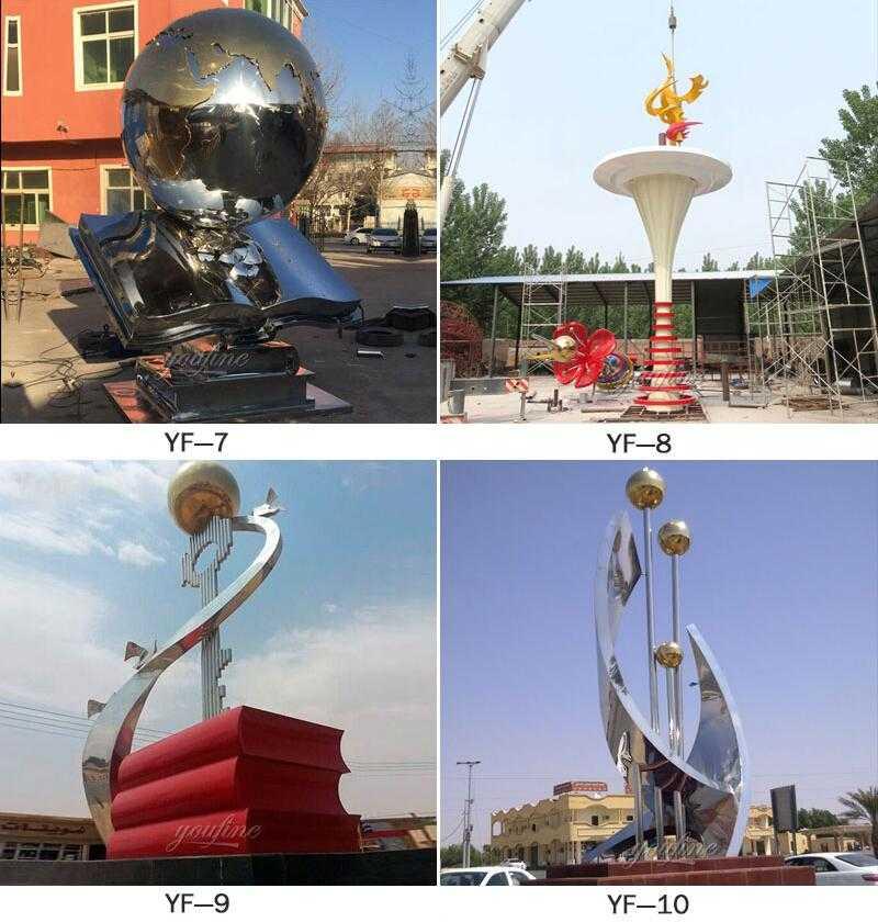 modern metal sculpture UAE