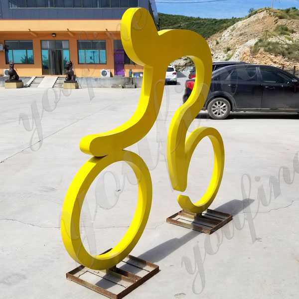 Modern Outdoor Metal Street Art Bicycle Sculpture Art Design in Stainless Steel for Garden Decoration for Sale--CSS-65