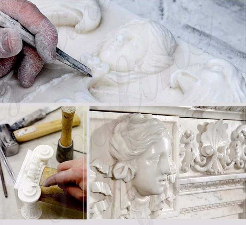 process of Outdoor St Francis with Wolf Statue