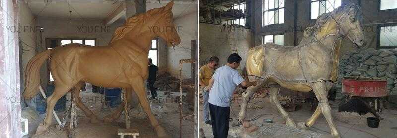 the clay model of bronze standing horse for sale