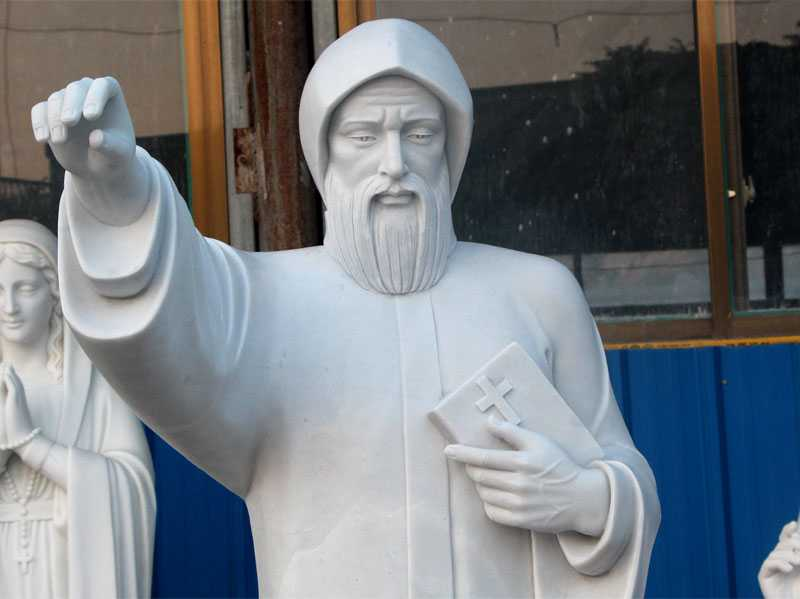 the large saint charbel statue design
