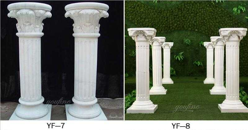 square fluted columns design for sale