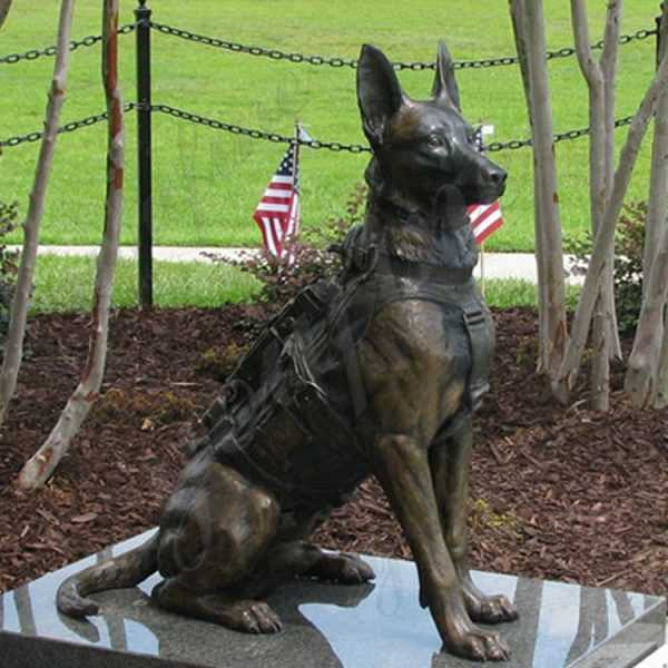 BOKK-544 black german shepherd statue for sale