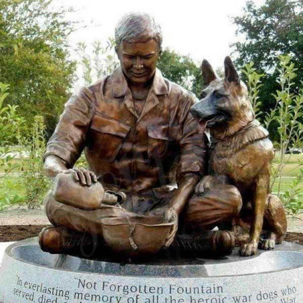 BOKK-544 german shepherd memorial statue for sale