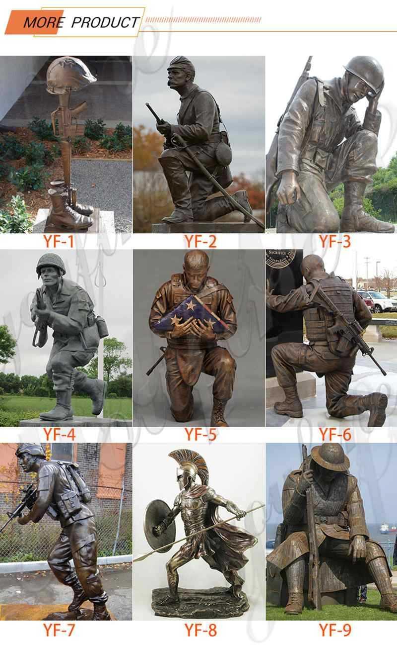 Bronze Memorial Military Statue