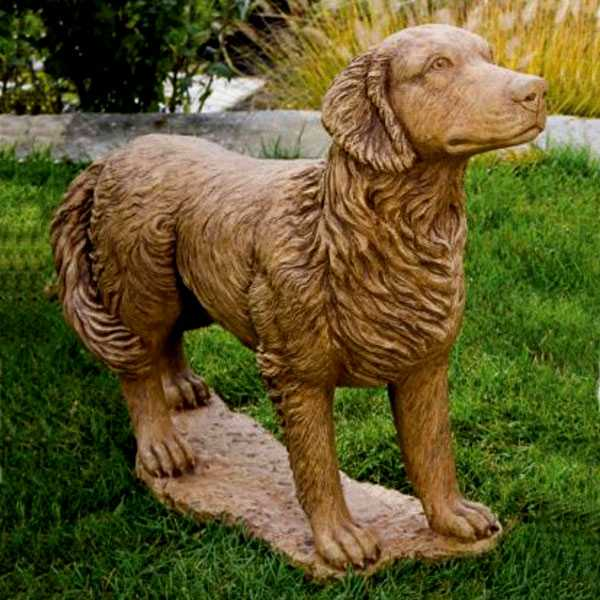 Custom Dog Statues Life Size Golden Bronze Retriever Outdoor Statue for Garden Memorial for Sale BOKK-545