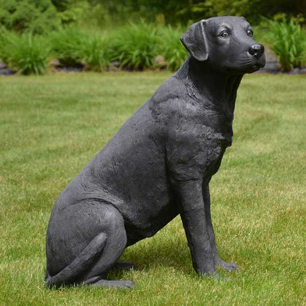 Custom Made Life Size Bronze Black Lab Statue Famous Dog Statues for Home for Sale BOKK-539