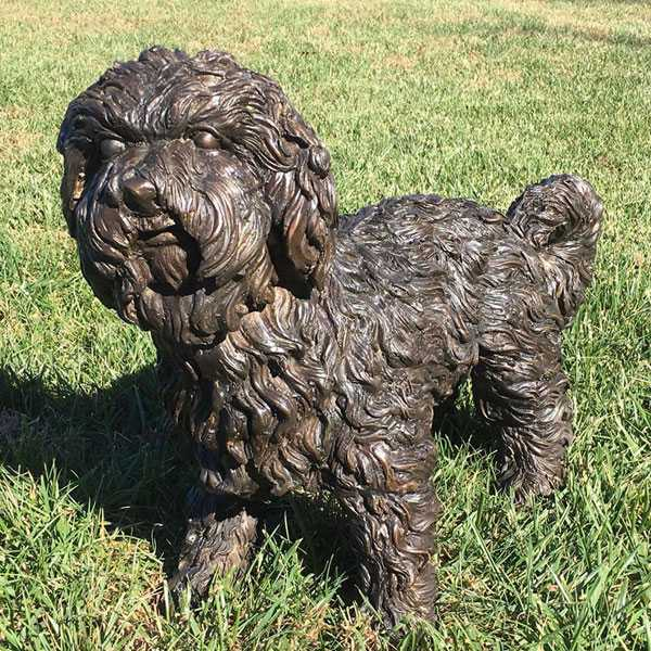 Custom Made Maltese Dog Garden Statue Antique Outdoor Bronze Dog Statues for Sale BOKK-550