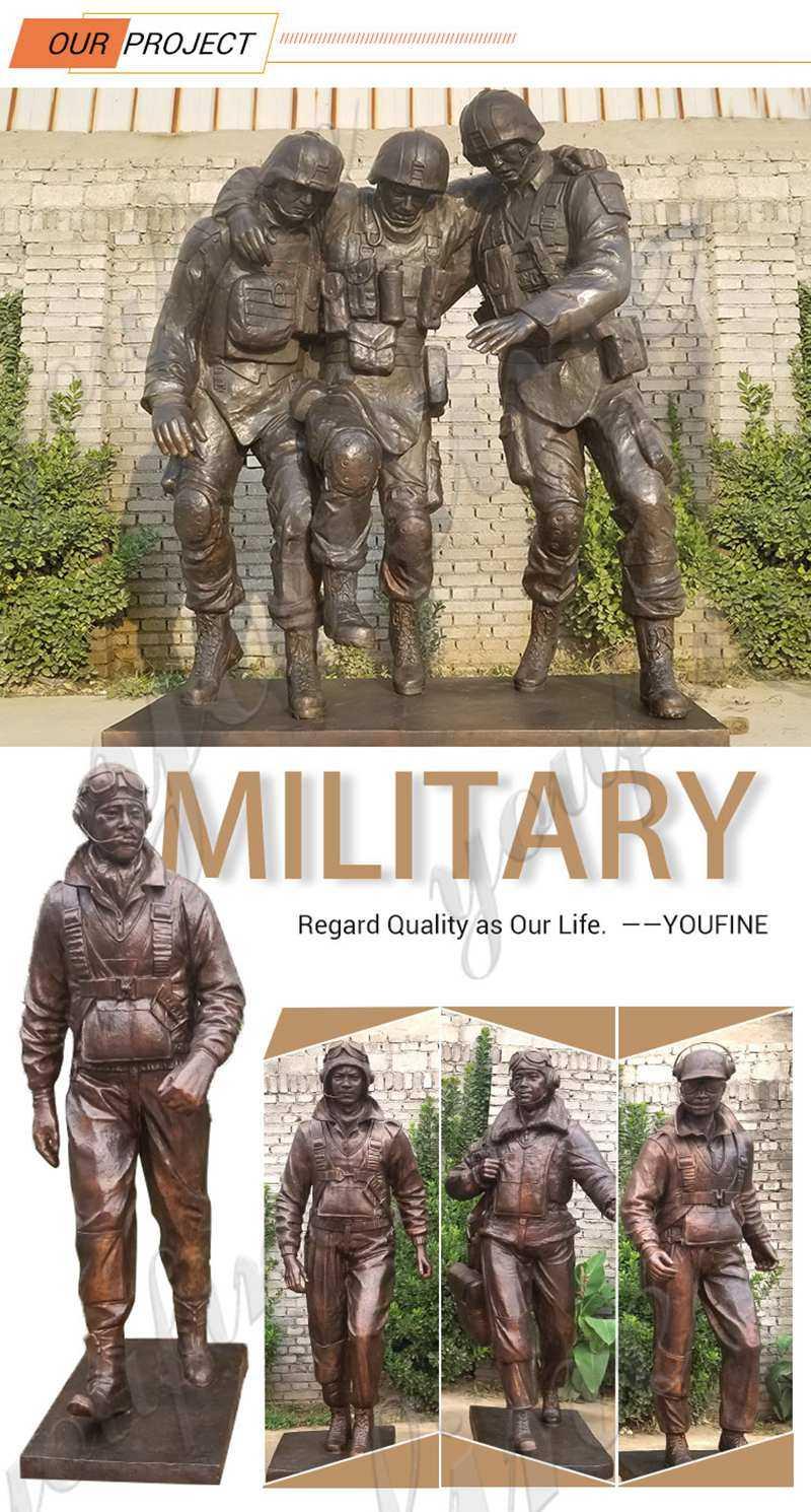 Fallen Soldier Garden Statue Soldier Memorial Statues for Sale