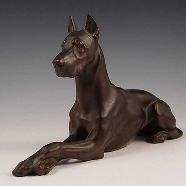 Outdoor Life Size Great Dane Statues Antique Casting Bronze Garden Custom Made Dog Statues for Sale BOKK-546