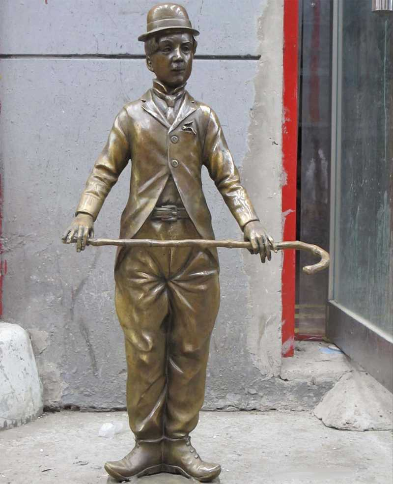 Western ART Bronze Sculpture Humor comedy master Charlie Chaplin statue for sale