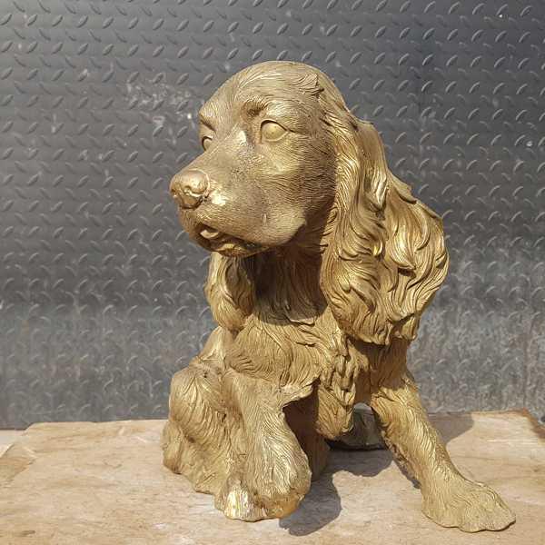 bronze springer spaniel sculpture for sale