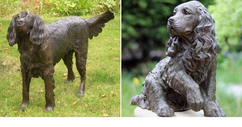 bronze springer spaniel statue for sale