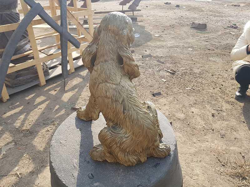 custom bronze springer spaniel sculpture for sale
